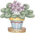 violet-flower-pot